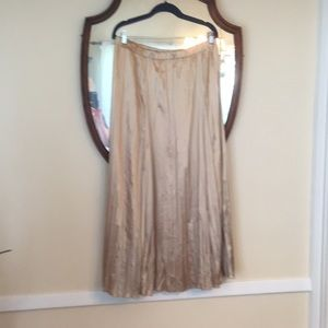 Chico's Size 2 Long Pleated Lined Skirt EUC